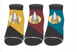 STAR TREK -  3 PAIRS ANKLE SOCKS