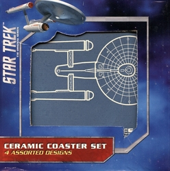 STAR TREK -  4 CERAMIC COASTER SET
