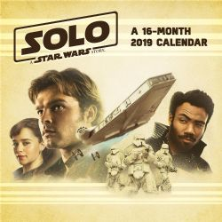 STAR WARS -  2019 WALL CALLENDAR (16 MONTH) -  SOLO