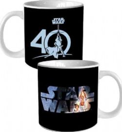 STAR WARS -  40TH ANNIVERSARY (20 OZ) - BLACK MUG