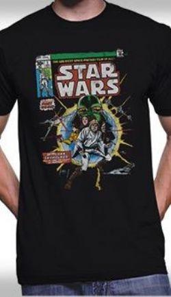 STAR WARS -  COMIC COVER T-SHIRT - BLACK