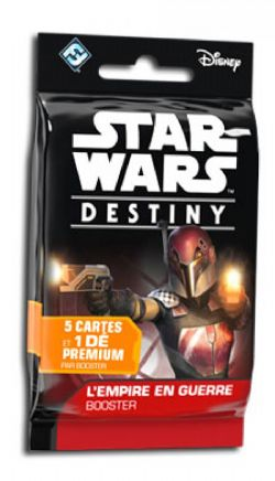 STAR WARS DESTINY -  EMPIRE AT WAR - BOOSTER PACK (FRENCH)