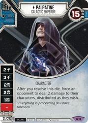 STAR WARS DESTINY -  PALPATINE - Galactic Emperor -  SPIRIT OF REBELLION