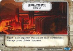 STAR WARS DESTINY -  SEPARATIST BASE -MUSTAFAR -  AWAKENINGS