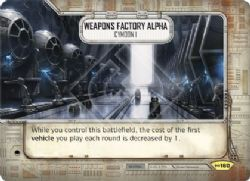 STAR WARS DESTINY -  WEAPONS FACTORY ALPHA - CYMOON 1 -  EMPIRE AT WAR