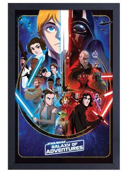 STAR WARS -  GALAXY OF ADVENTURES FRAMED PICTURE (13