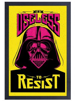 STAR WARS -  IT'S USELESS TO RESIST FRAMED PICTURE (13