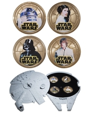 STAR WARS -  MILLENIUM FALCON SET - STAR WARS -  2011 NEW ZEALAND MINT 01