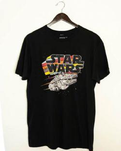 STAR WARS -  MILLENIUM FALCON T-SHIRT - BLACK