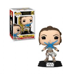 STAR WARS -  POP! VINYL BOBBLE-HEAD OF REY WITH TWO LIGHTSABERS (4 INCH) -  RISE OF SKYWALKER 434