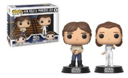 STAR WARS -  POP! VINYL FIGURE OF HAN SOLO & PRINCESS LEIA -40TH- (2 PACK) (4 INCH) -  EMPIRE STRIKES BACK, THE