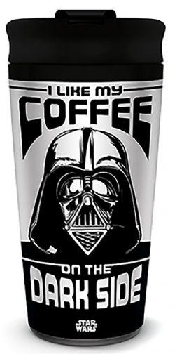 STAR WARS -  STAR WARS - DARK SIDE COFFEE METAL TRAVEL MUG - I LIKE MY COFFEE