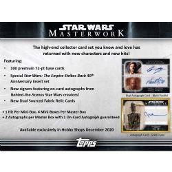 STAR WARS -  TOPPS MASTERWORK 2020 (P5/B4)