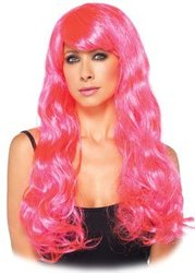STARBRIGHT WIG - NEON PINK (ADULT) -  STARBRIGHT
