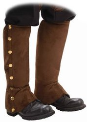 STEAMPUNK -  FAUX SUEDE SPATS - BROWN