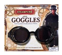 STEAMPUNK -  GOGGLES - BLACK