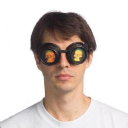 STEAMPUNK -  HOLOGRAPHIC SKULL GOGGLES