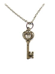 STEAMPUNK -  KEY NECKLACE - FLOWER BIT