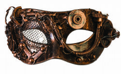 STEAMPUNK -  MASK STEAMPUNK WITH TUBES - BRONZE
