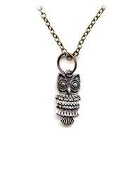 STEAMPUNK -  OWL NECKLACE