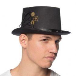 STEAMPUNK -  TOP HAT - BLACK