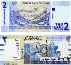 SUDAN -  2 POUNDS 2006 (UNC)