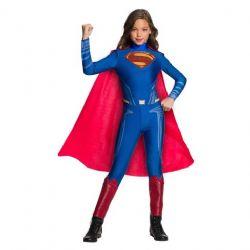 SUPERMAN -  GIRLS JUMPSUIT COSTUME (CHILD) -  JUSTICE LEAGUE