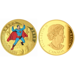 SUPERMAN -  ICONIC SUPERMAN COMIC BOOK COVERS : SUPERMAN #4 (1940) -  2015 CANADIAN COINS