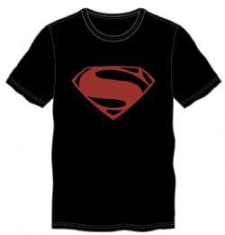 SUPERMAN -  LOGO T-SHIRT - BLACK