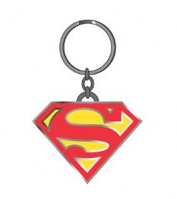 SUPERMAN -  METAL KEYCHAIN LOGO