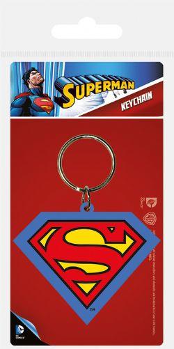 SUPERMAN -  RUBBER LOGO KEYCHAIN