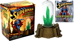 SUPERMAN -  SUPERMAN GLOWING KRYPTONITE AND BOOK MINI KIT