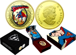 SUPERMAN -  THE EARLY YEARS - 75TH ANNIVERSARY OF SUPERMAN -  2013 CANADIAN COINS