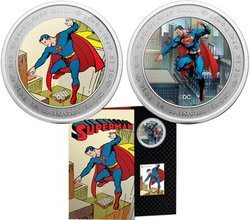 SUPERMAN -  THEN AND NOW - 75TH ANNIVERSARY OF SUPERMAN -  2013 CANADIAN COINS