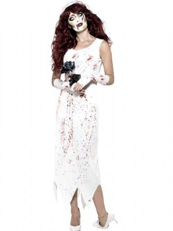 SWEET TEEN STATION -  ZOMBIE BRIDE COSTUME (ADULT - LARGE 12-14)