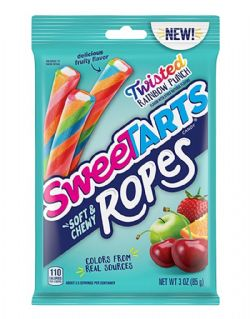 SWEETARTS -  ROPES TWISTED - RAINBOW PUNCH
