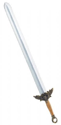 SWORDS -  CHINESE SWORD / BRONZE / LACQUERED WOOD HANDLE (36