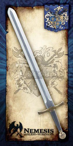 SWORDS -  KNIGHT SWORD / BRONZE / MOLDED HANDLE / MOLDED POMMEL (36