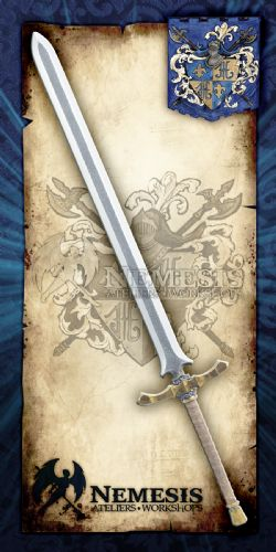 SWORDS -  NOBLE SWORD / WOOD AND LEATHER HANDLE / BRONZE (44