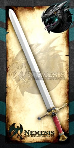 SWORDS -  ROYAL GUARD SWORD - WOODEN GRIP WITH LEATHER - TARNISHED STEEL (43
