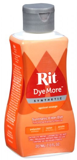 SYNTHETIC HAIR DYE -  RIT DYEMORE SYNTHETIC - APRICOT ORANGE
