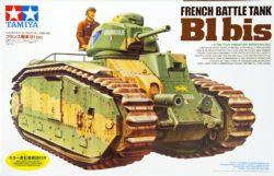 TANK -  FRENCH BATTLE TANK CHAR B1 BIS - 1/35 SCALE