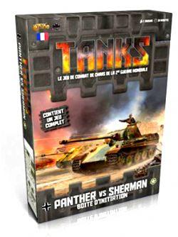TANKS -  PANTHER VS SHERMAN - BOITE D'INITIATION (FRENCH)