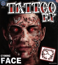 TATTOO FX -  CYBORG FACE
