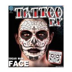TATTOO FX -  SUGAR MAN FACE