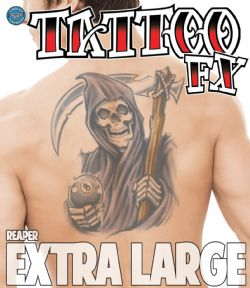 TATTOOS -  EXTRA LARGE TEMPORARY TATTOOS - REAPER
