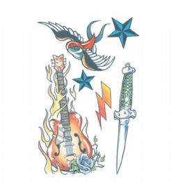 TATTOOS -  ROCK STAR TEMPORARY TATTOOS - SOLD OUR SOULS