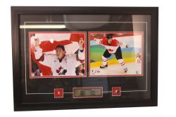 TEAM CANADA -  2002 & 2010 GOLD MEDALISTS FRAMED PHOTO (19 X 27)