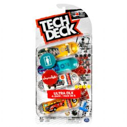 TECH DECK -  ULTRA DLX - 4-PACK (GIRL SKATEBOARDS + CHOCOLATE)