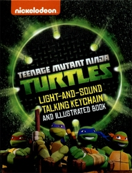 TEENAGE MUTANT NINJA TURTLES -  LIGHT-AND-SOUND TALKING KEYCHAIN & ILLUSTRATED BOOK -  MINI-KIT